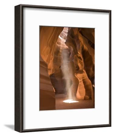 Ray of Sunlight on the Floor of Antelope Canyon-Richard Nowitz-Framed Photographic Print