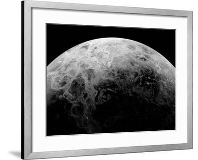 Radar View of the Southern Hemisphere of Venus-Michael Benson-Framed Photographic Print