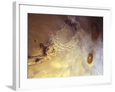 Arcuate Graben System of Noctis Labyrinthus on Mars-Michael Benson-Framed Photographic Print