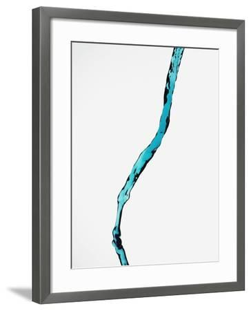 Falling Blue Water--Framed Photographic Print