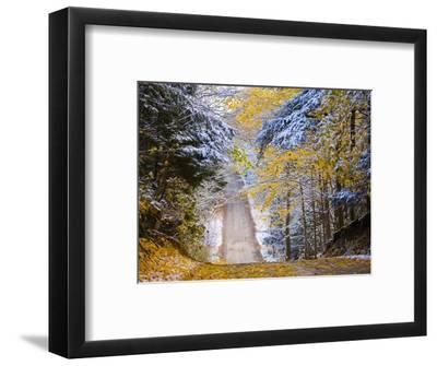 Rural road after snow-Jim Craigmyle-Framed Photographic Print