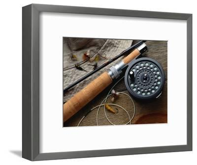 Fishing Reel and Lures-Jim Barber-Framed Photographic Print