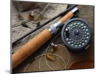 Fishing Reel and Lures-Jim Barber-Mounted Photographic Print