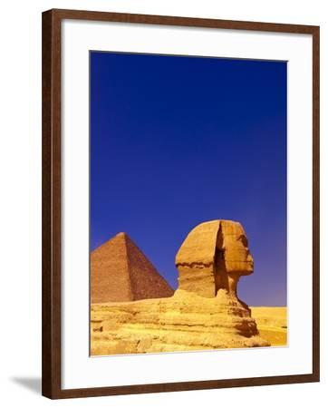 Great Sphinx and Pyramids at Giza-Blaine Harrington-Framed Photographic Print