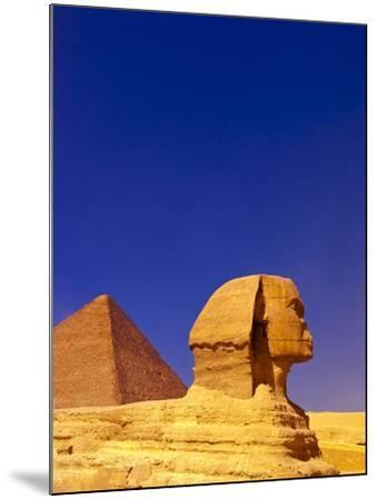 Great Sphinx and Pyramids at Giza-Blaine Harrington-Mounted Photographic Print