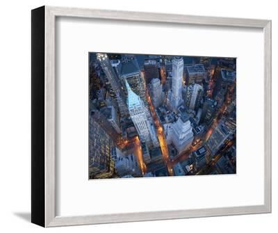 Aerial View of Wall Street-Cameron Davidson-Framed Photographic Print