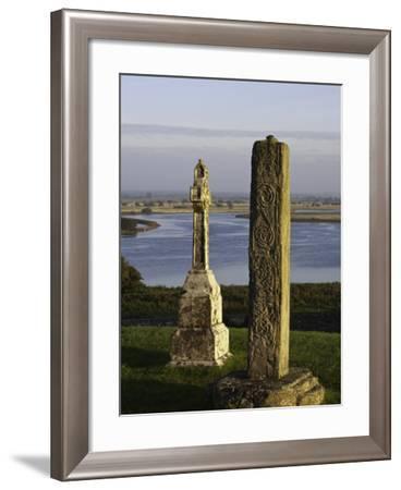 Gravestones at Clonmacnoise monastery-Doug Pearson-Framed Photographic Print