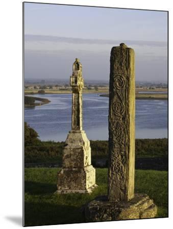 Gravestones at Clonmacnoise monastery-Doug Pearson-Mounted Photographic Print