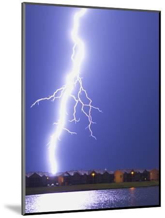 Lightning Striking an Apartment Complex-Jim Reed-Mounted Photographic Print