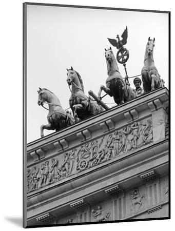 Statues on Top of Brandenburg Gate-Murat Taner-Mounted Photographic Print