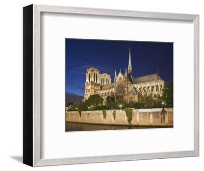 Notre Dame Cathedral at twilight-Peet Simard-Framed Photographic Print