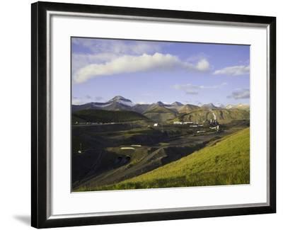 Cardinal River Coal Mine in the Canadian Rocky Mountains-John Eastcott & Yva Momatiuk-Framed Photographic Print