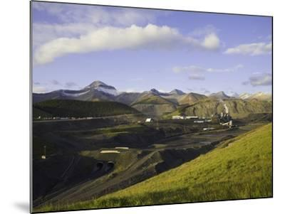Cardinal River Coal Mine in the Canadian Rocky Mountains-John Eastcott & Yva Momatiuk-Mounted Photographic Print