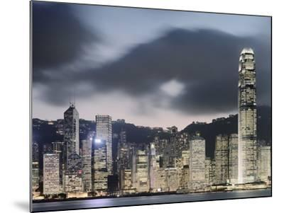 Hong Kong Skyline and financial district at dusk-Martin Puddy-Mounted Photographic Print