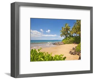 Secluded sandy beach on Maui-Ron Dahlquist-Framed Photographic Print