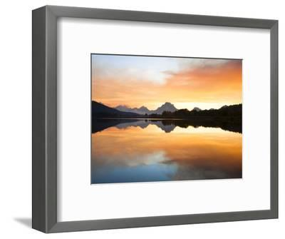 Sunset over the Snake River at Oxbow Bend-Frank Lukasseck-Framed Photographic Print