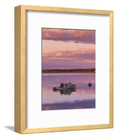 Sunset West River Causeway, West River, Prince Edward Island, Canada-Barrett & Mackay-Framed Photographic Print