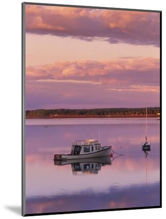 Sunset West River Causeway, West River, Prince Edward Island, Canada-Barrett & Mackay-Mounted Photographic Print
