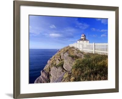 Lighthouse at Cape Spear National Historic Site, Newfoundland, Canada.-Barrett & Mackay-Framed Photographic Print