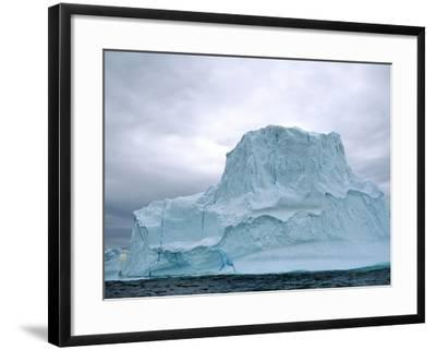Iceberg, Witless Bay Ecological Reserve, Newfoundland, Canada-Barrett & Mackay-Framed Photographic Print