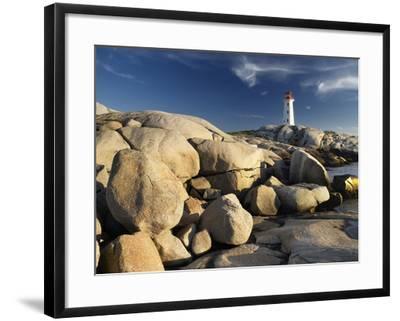 Peggy's Cove Lighthouse Nova Scotia, Canada.-Darwin Wiggett-Framed Photographic Print