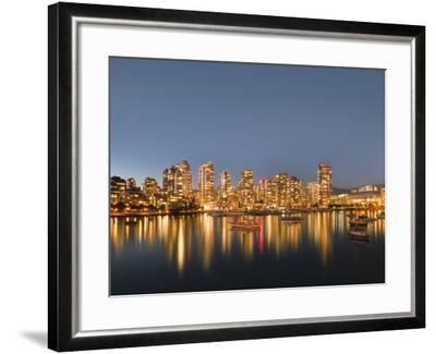 Vancouver skyline-Benjamin Rondel-Framed Photographic Print