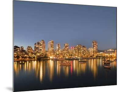 Vancouver skyline-Benjamin Rondel-Mounted Photographic Print
