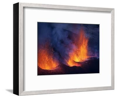 Lava erupting from Eyjafjallajokull--Framed Photographic Print