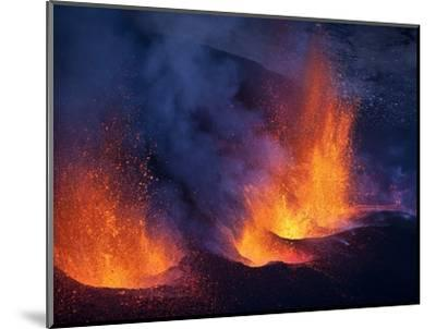 Lava erupting from Eyjafjallajokull--Mounted Photographic Print