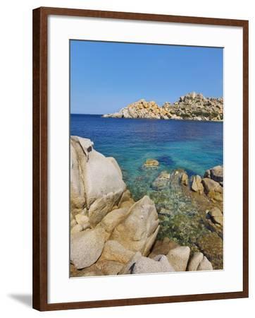 Rocky coastline at Capo Testo-Frank Krahmer-Framed Photographic Print