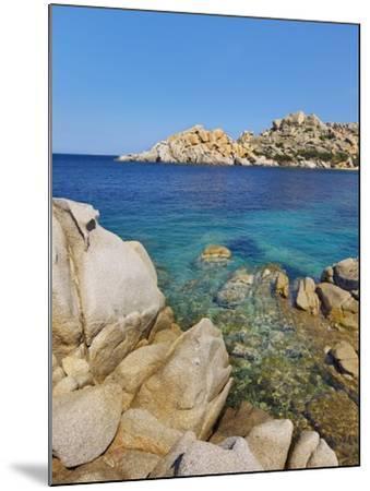 Rocky coastline at Capo Testo-Frank Krahmer-Mounted Photographic Print