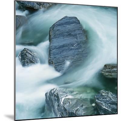 Rushing water and rocks on South Island, New Zealand-Micha Pawlitzki-Mounted Photographic Print
