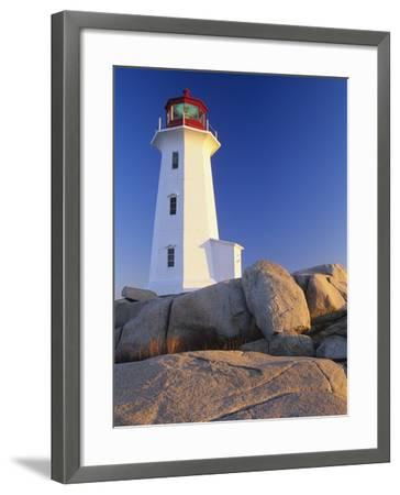 Peggy's Cove Lighthouse, Peggy's Cove, Nova Scotia, Canada-Miles Ertman-Framed Photographic Print