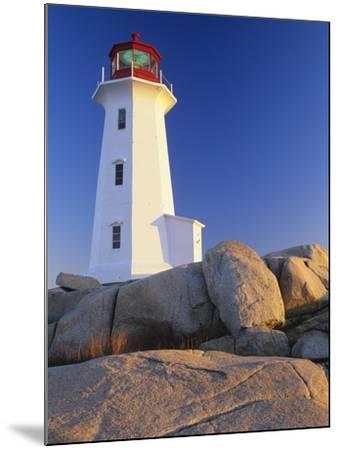 Peggy's Cove Lighthouse, Peggy's Cove, Nova Scotia, Canada-Miles Ertman-Mounted Photographic Print