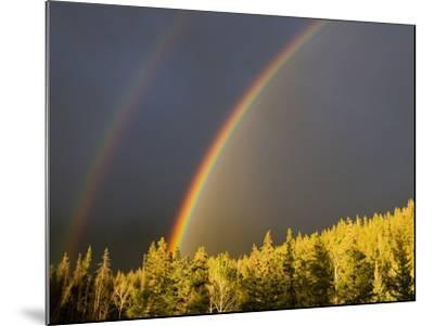 A Double Rainbow During a Storm in Banff National Parknear Banff Alberta, Canada.-Josh McCulloch-Mounted Photographic Print