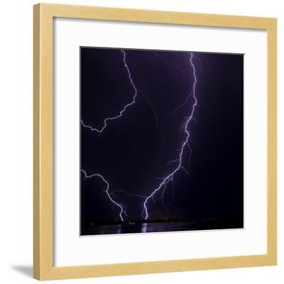 Lightning strike-Stuart Westmorland-Framed Photographic Print