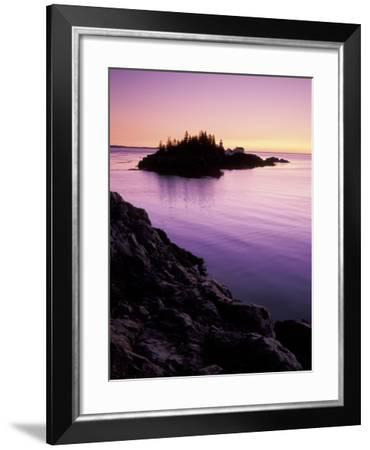 East Quoddy Lighthouse at Sunrise, Campobello Island, New Brunswick, Canada-Garry Black-Framed Photographic Print