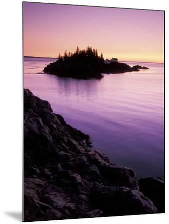 East Quoddy Lighthouse at Sunrise, Campobello Island, New Brunswick, Canada-Garry Black-Mounted Photographic Print