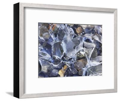 Ice detail and pebbles-Frank Krahmer-Framed Photographic Print