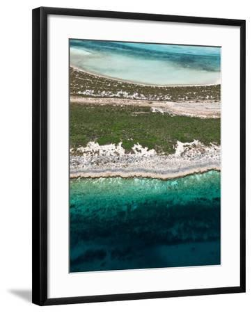 Aerial View of Exuma Cays, Bahamas-Onne van der Wal-Framed Photographic Print