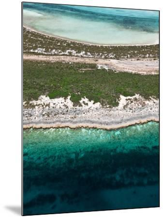 Aerial View of Exuma Cays, Bahamas-Onne van der Wal-Mounted Photographic Print