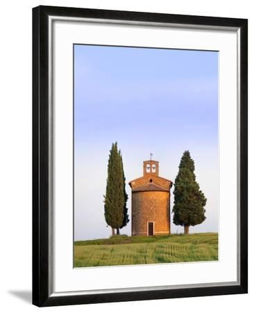 Chapel and cypress trees-Frank Lukasseck-Framed Photographic Print