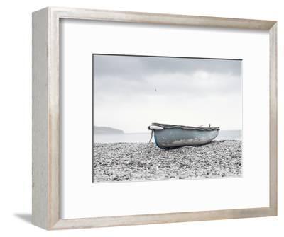 Boat at Beach in Devon-Simon Plant-Framed Photographic Print