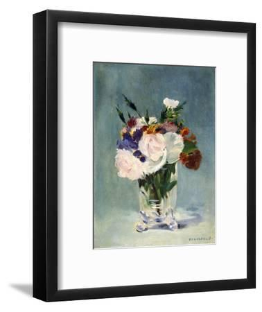 Flowers in a Crystal Vase-Edouard Manet-Framed Photographic Print
