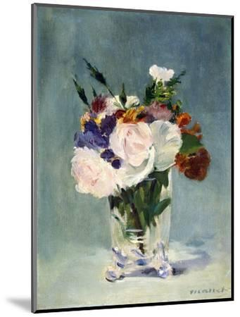 Flowers in a Crystal Vase-Edouard Manet-Mounted Photographic Print