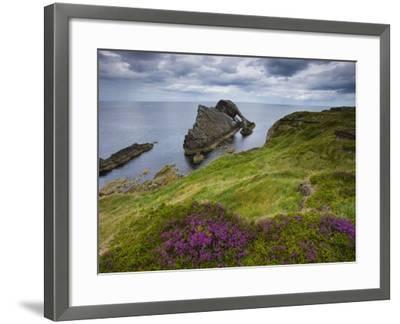 Bow Fiddle Rock, Portknockie, Scotland-Roland Gerth-Framed Photographic Print