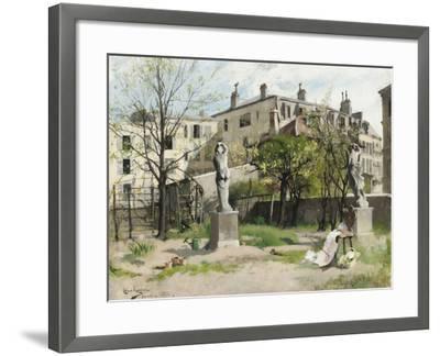 I lövsprickningen by Carl Larsson--Framed Photographic Print