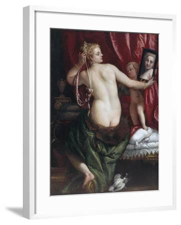 Venus with a Mirror (Venus at Her Toilette) by Paolo Veronese--Framed Photographic Print
