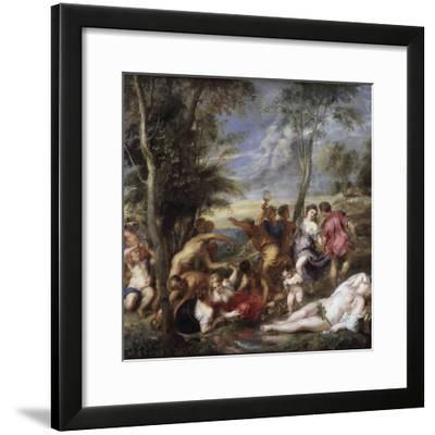 Bacchanal at Andros by Peter Paul Rubens--Framed Photographic Print