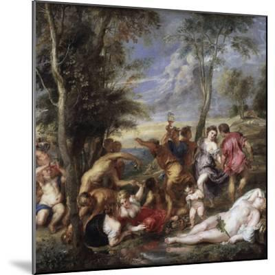 Bacchanal at Andros by Peter Paul Rubens--Mounted Photographic Print
